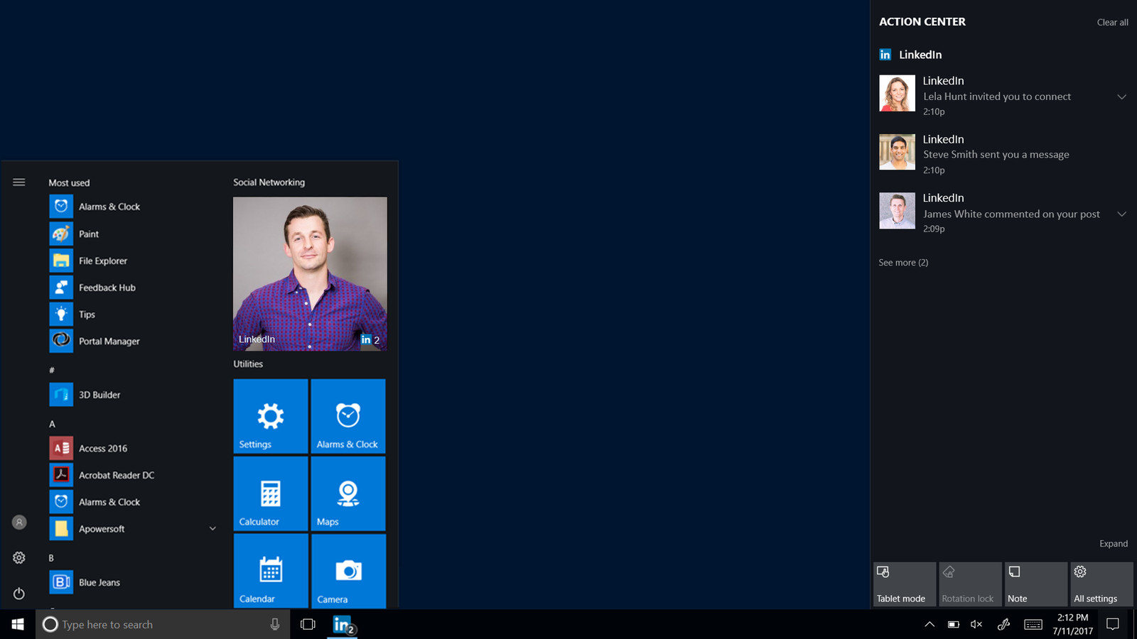 photo image LinkedIn's new Windows 10 app brings invite notifications straight to your PC