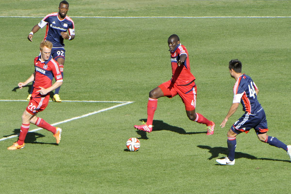 In 2014, Bakary Soumare is charging forward into spaces more often, at least in preseason, and often to good effect.