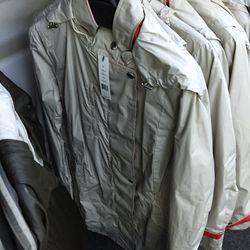 Khaki Karena rain coat, $249 (was $755)