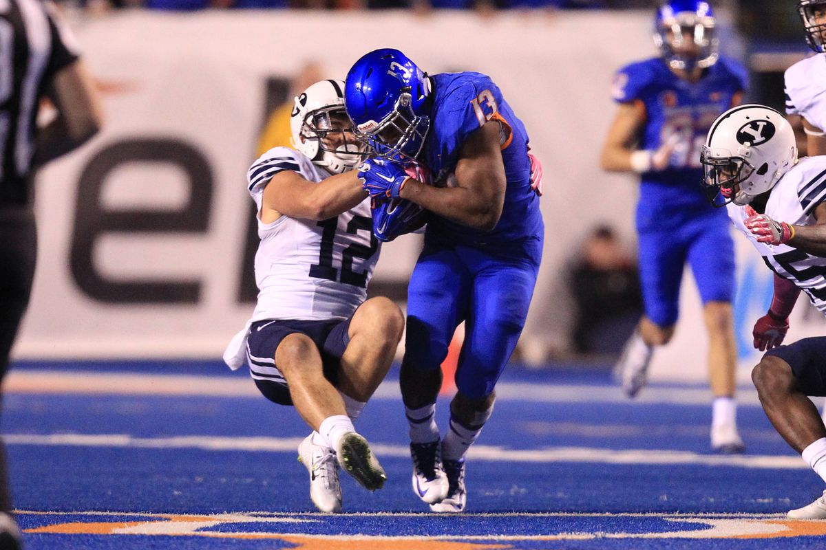 NCAA Football: Brigham Young at Boise State