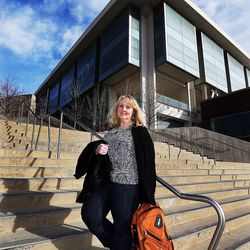 Heather Hirsche poses for a photo at the University of Utah in Salt Lake City on Friday, Jan. 22, 2016. Legislation might help her gain access to Medicaid.