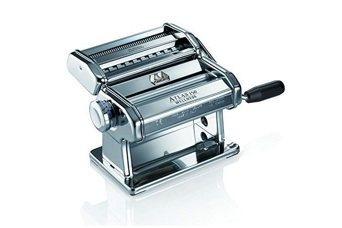 A stainless steel pasta machine