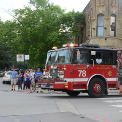 6:05 p.m. Engine 78 on a call, heading south on Clark at Waveland -