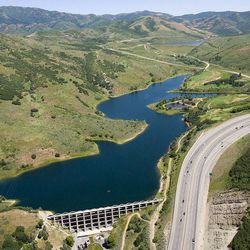 Mountain Dell Dam, first built in 1916-1917, is owned by Salt Lake City, which insures the water supply dam that is part of a water supply system covered by insurance premiums paid by the Metropolitan Water District of Salt Lake City and Sandy.