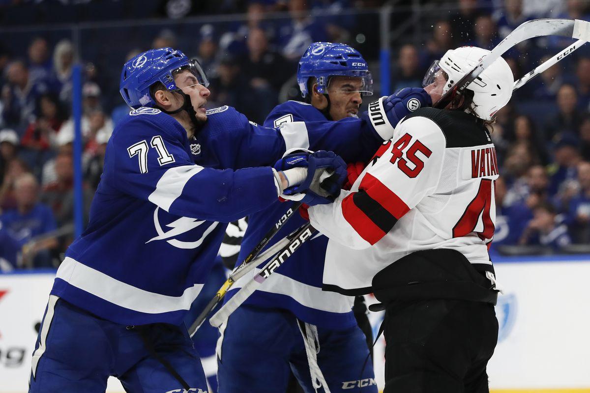 NHL: NOV 25 Devils at Lightning