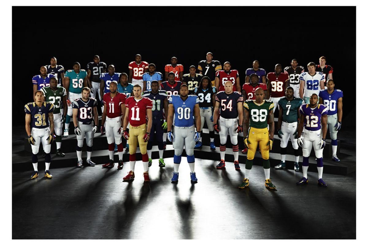 0a664fa9b Nike Unveils New NFL Uniforms  Seahawks Only Drastic Change ...