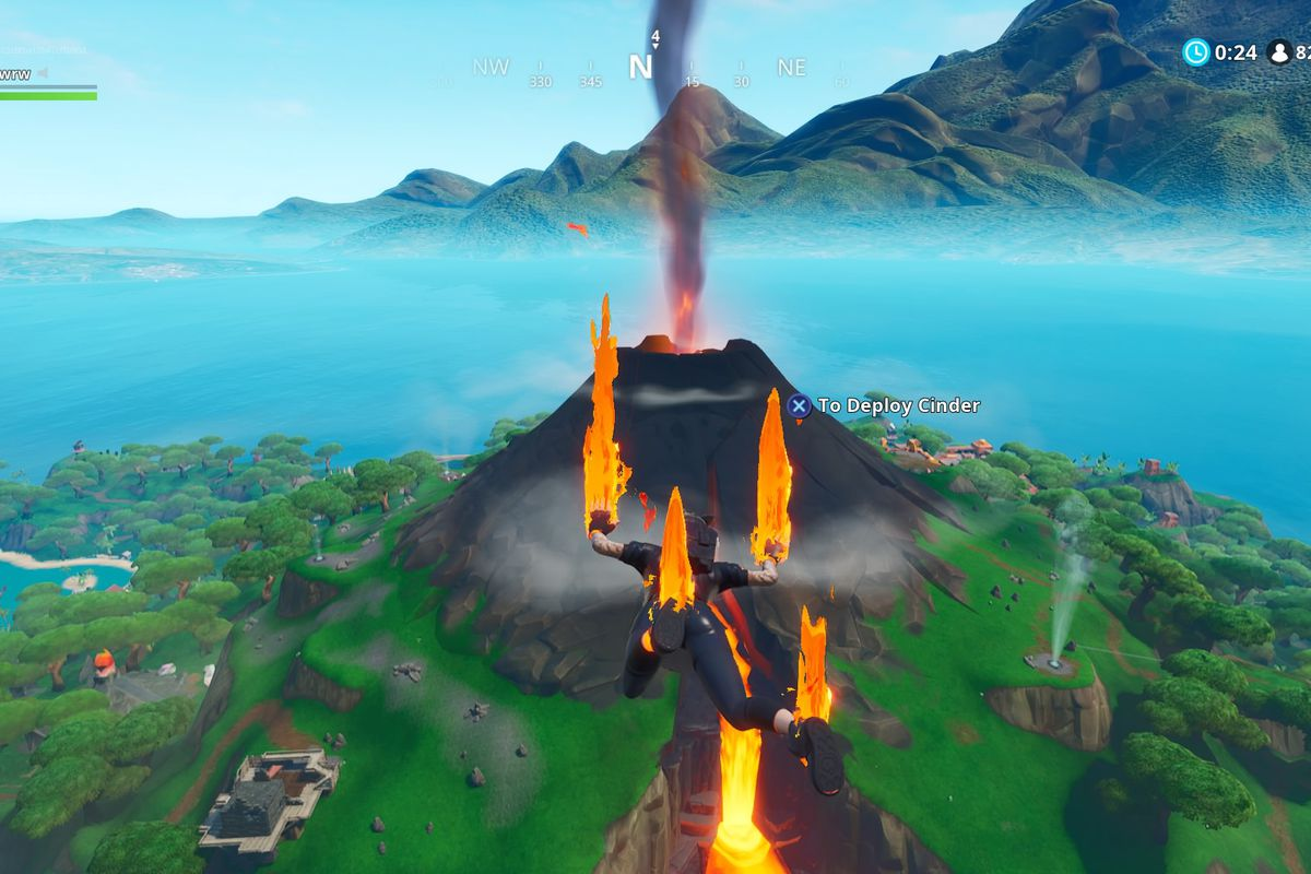 Fortnite S Volcano Is Starting To Erupt The Verge