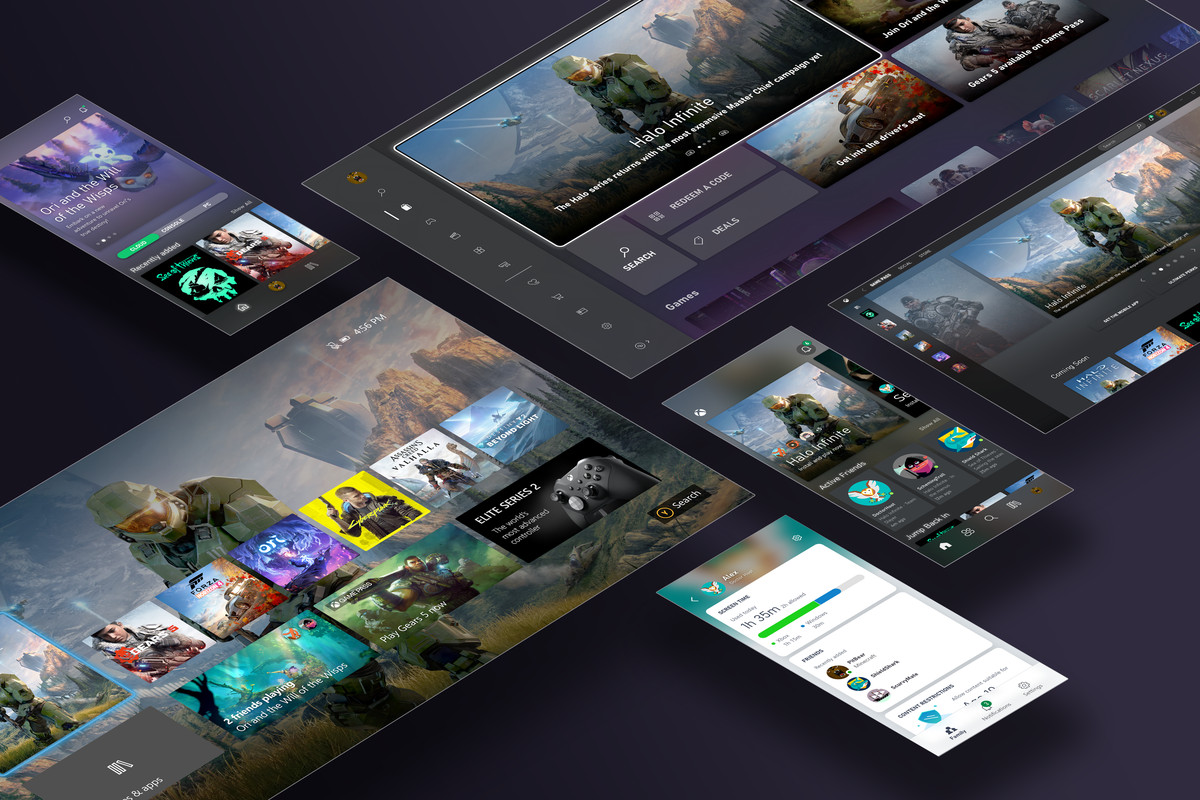Xbox's new UI for all its different devices