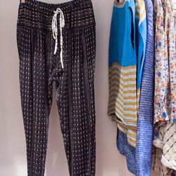 "Ace & Jig, <a href=""http://www.honeyintherough.com/Ace-and-Jig-Bazaar-Pants.html/?"">$195</a>"