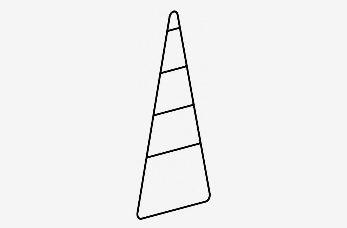Triangle-shaped metal ladder.