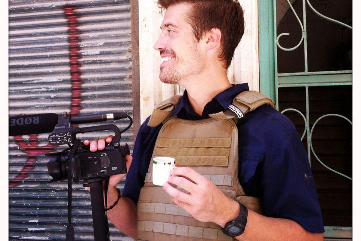 James Foley in Syria, 2012.