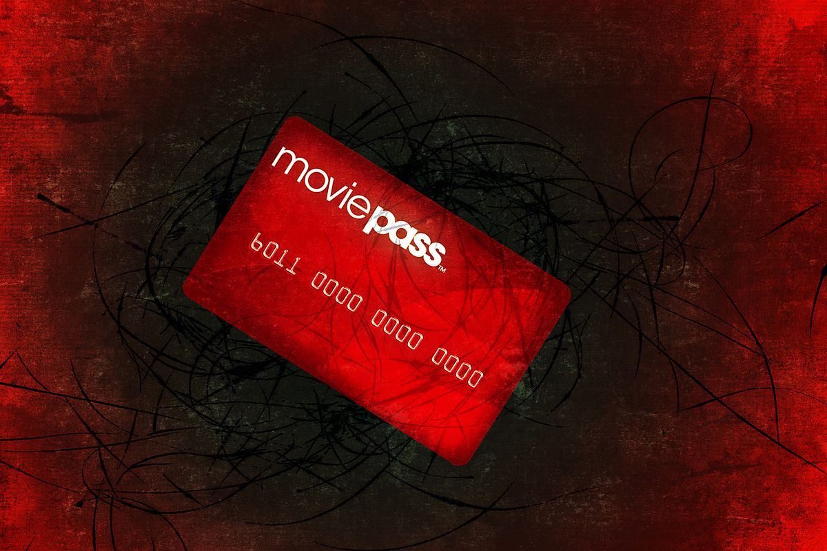 An illustration of a MoviePass subscription card