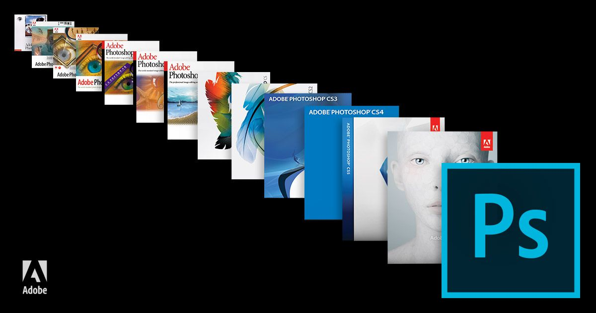 Photoshop boxes through the years