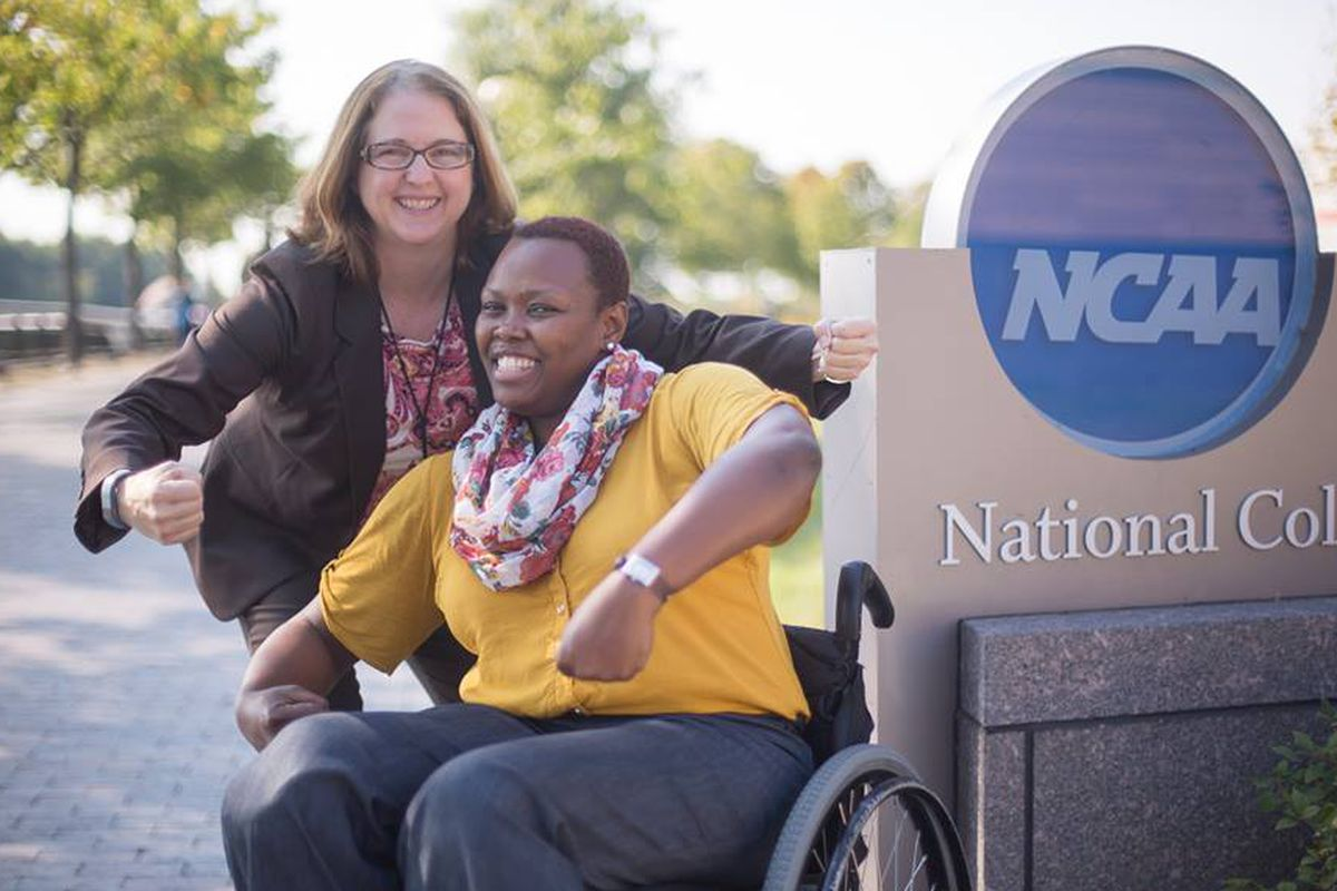 Karen Morrison, left, leaves a legacy of LGBT inclusion at the NCAA.