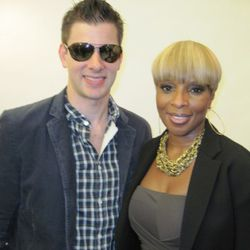 Olympic fencer Tim Morehouse and Mary J. Blige