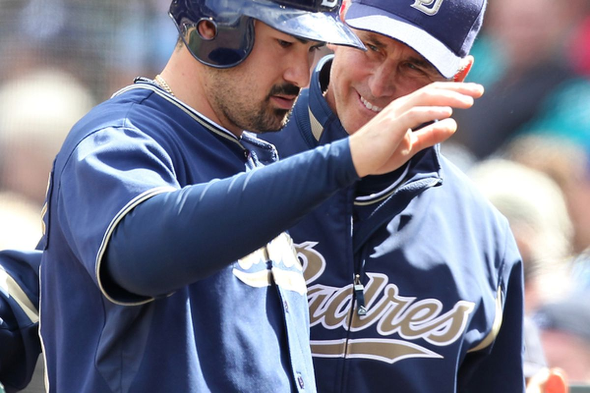 """""""You're going to be on the All Star Team Adrian!  I can feel it.  Now <em>YOU</em> feel how soft my freshly shaven cheek is on the back of your hand."""""""