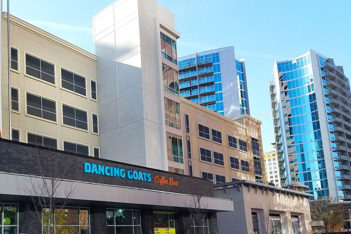 Signage for Dancing Goats Midtown.