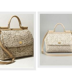 "Dolce & Gabbana <a href=""http://www.neimanmarcus.com/p/Dolce-Gabbana-Miss-Sicily-Lace-Flap-Bag-Nude/prod152710104_cat40880736__/?icid=&searchType=EndecaDrivenCat&rte=%252Fcategory.service%253FitemId%253Dcat40880736%2526pageSize%253D30%2526No%253D60%2526re"