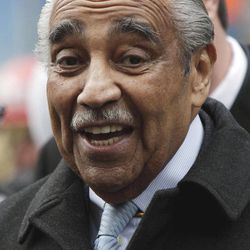 FILE- In this Thursday, Dec. 23, 2010 file photo, Rep. Charles Rangel, D-N.Y., joins a gathering at Ground Zero in New York to celebrate the passage of the 9/11 Health and Compensation Act. Boundary shifts and demographic changes in his New York City congressional district could make Rangel more vulnerable this year as he faces a contested primary. Rangel, who has held his seat in the U.S. House of Representatives since defeating Adam Clayton Powell Jr. in 1970, will face State Sen. Adriano Espaillat, in New York's Democratic Primary on June 26, 2012.