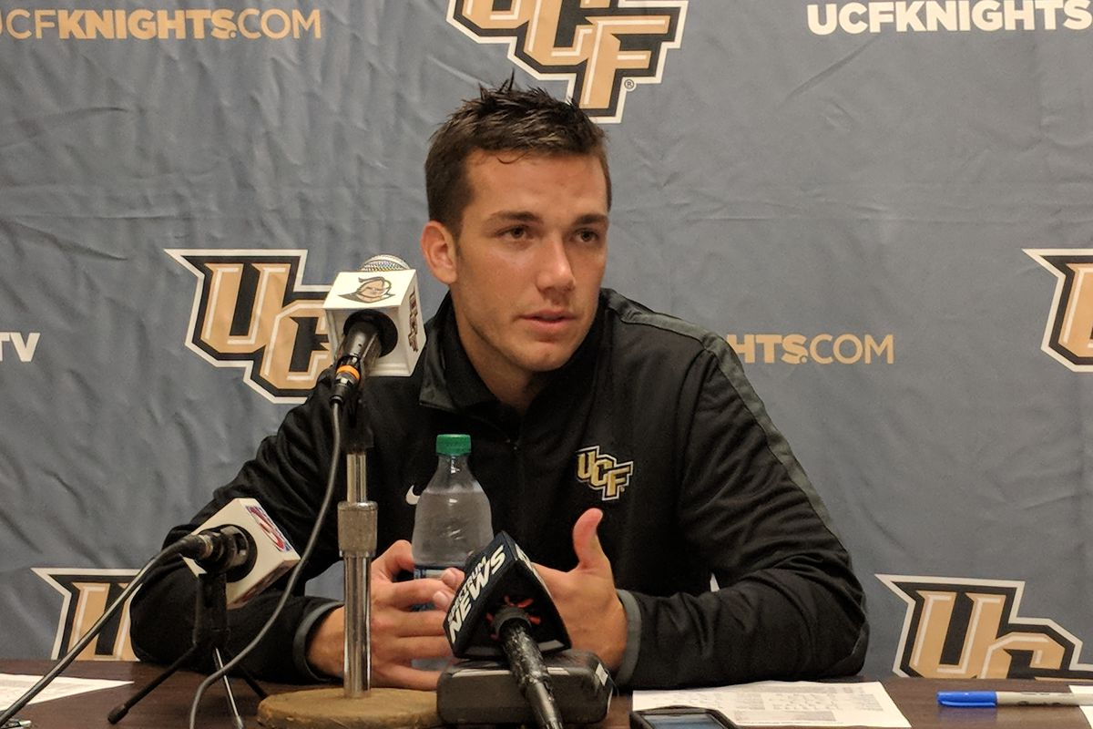 UCF QB McKenzie Milton speaks following the Knights' emphatic win at UConn. (Photo: Brian Murphy)