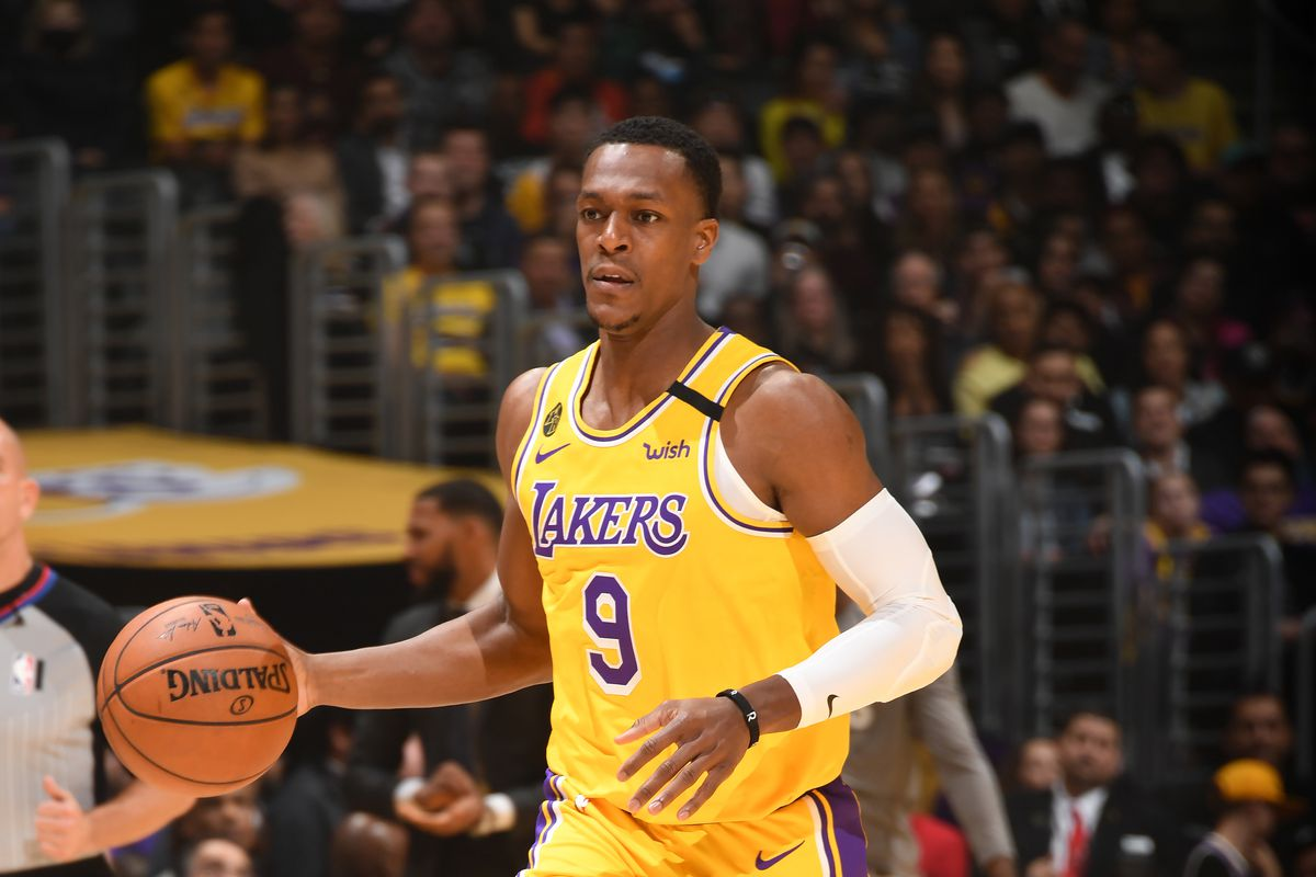 Lakers News Rajon Rondo Goes Down With Injury A Sea Of Blue