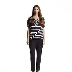 Tab collared top, $48; Pleated pants, $54