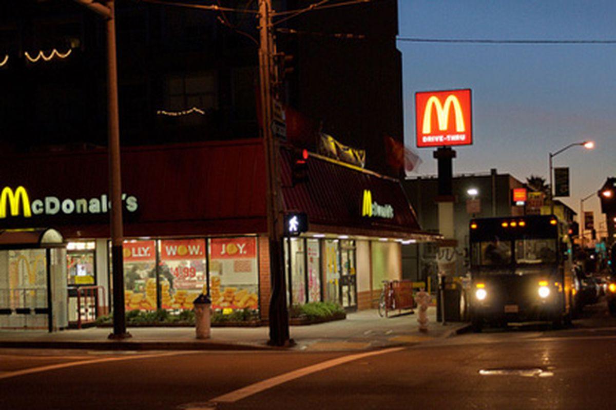 McDonald's at dawn.