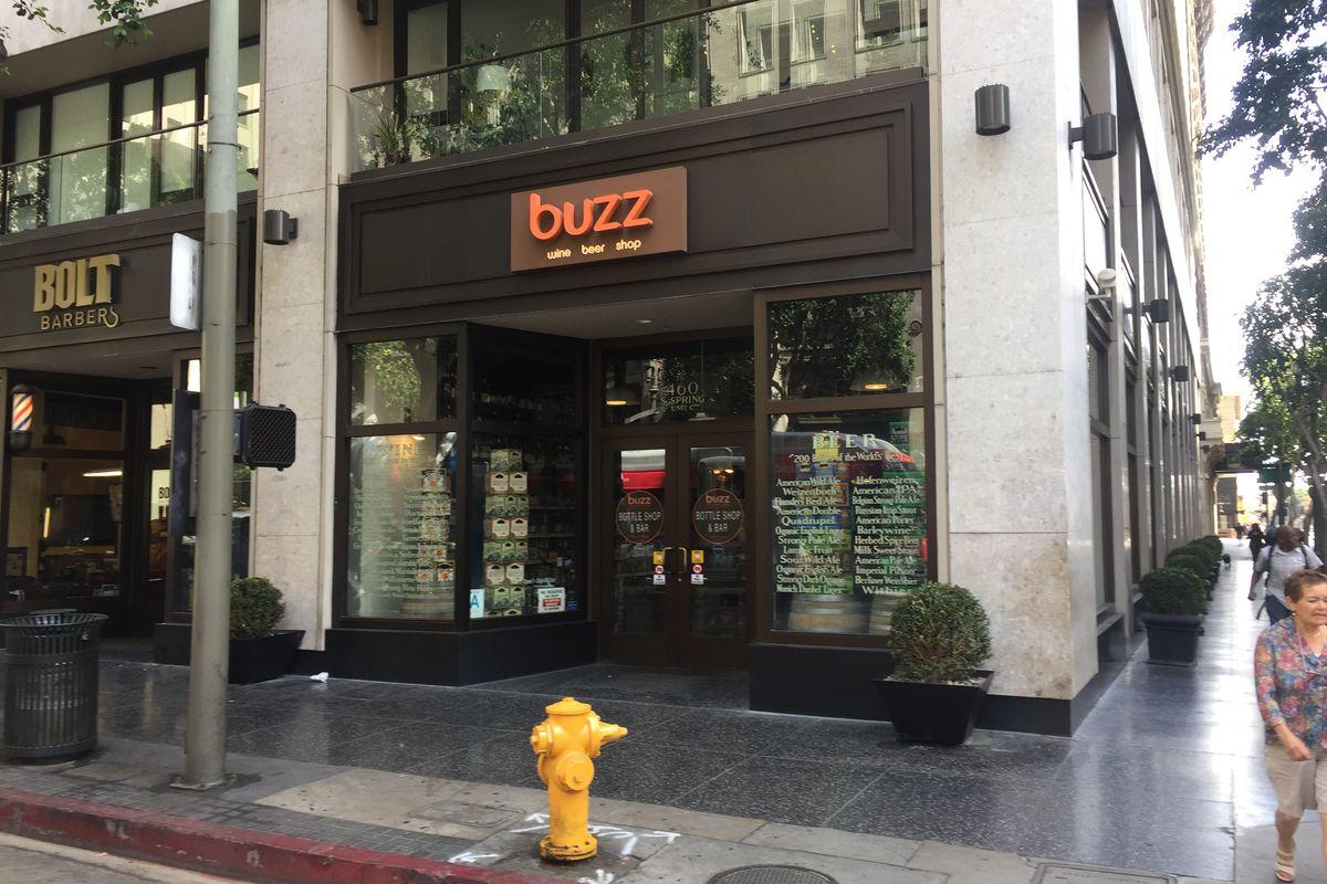 Outside Buzz Wine Beer Shop, Downtown LA