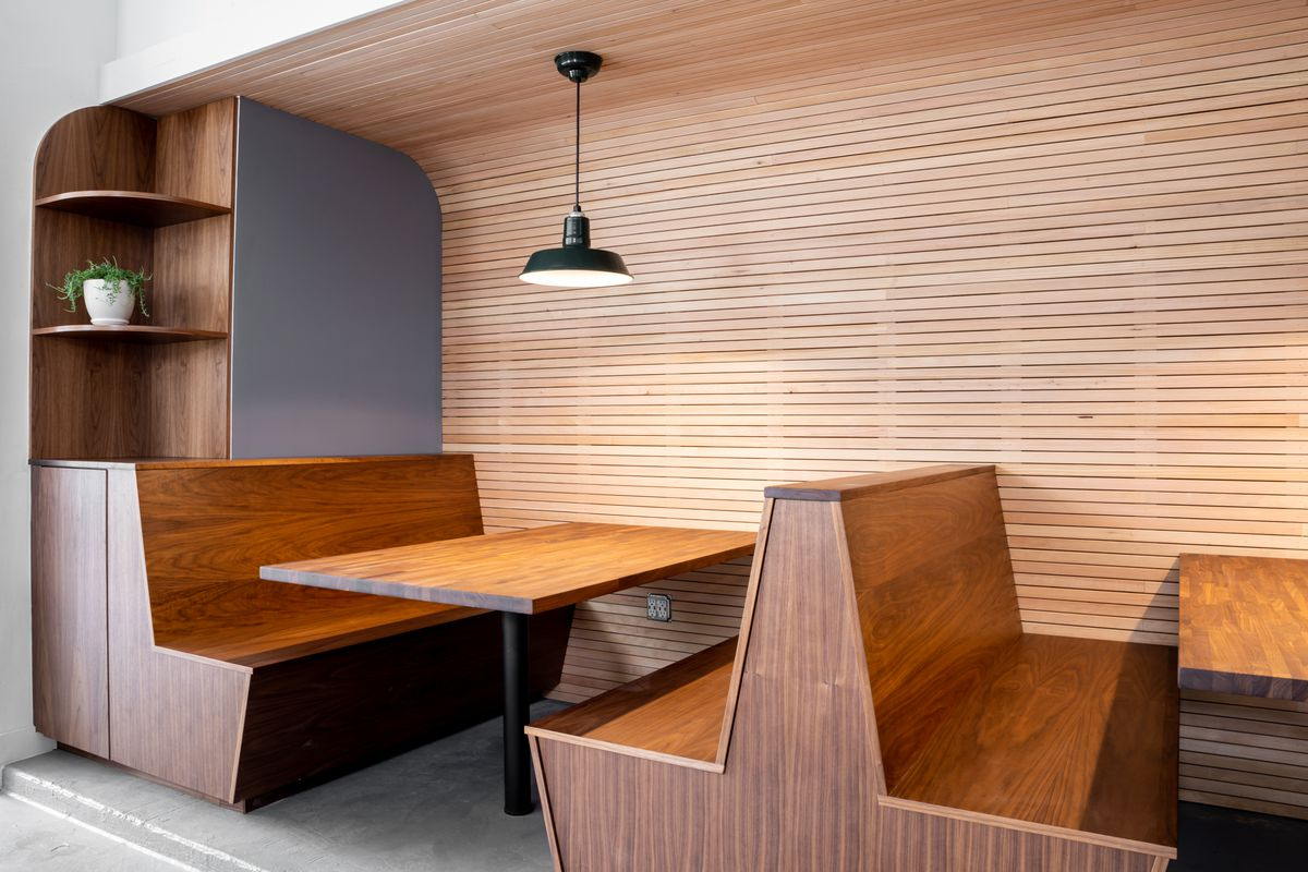 Booths at Noe Cafe