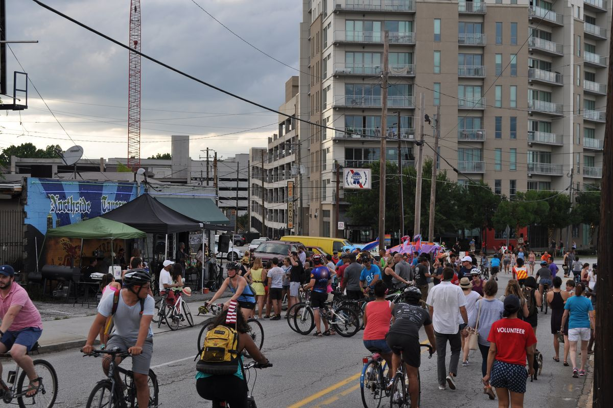Streets Alive consumed Howell Mill Road in June 2017 as part of a Westside route that will be linked with a route to Decatur next year.