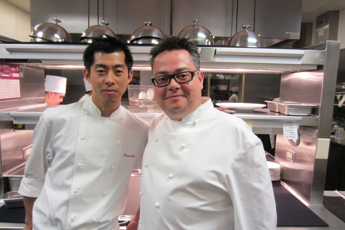 Ryuki Kawasaki, left, takes over the kitchen at Twist by Pierre Gagnaire. Pascal Sanchez, right, is opening his own restaurant in the south of France.