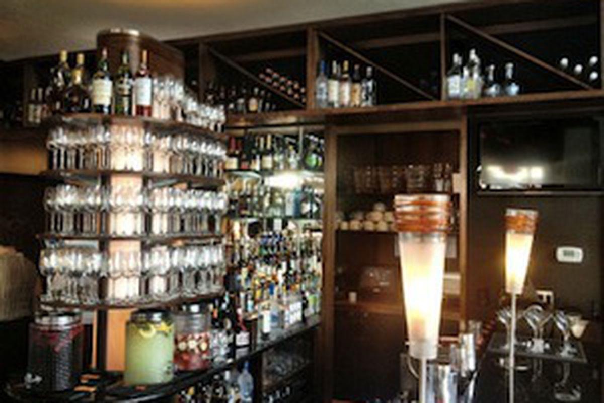 Bottles on Display at Solea.