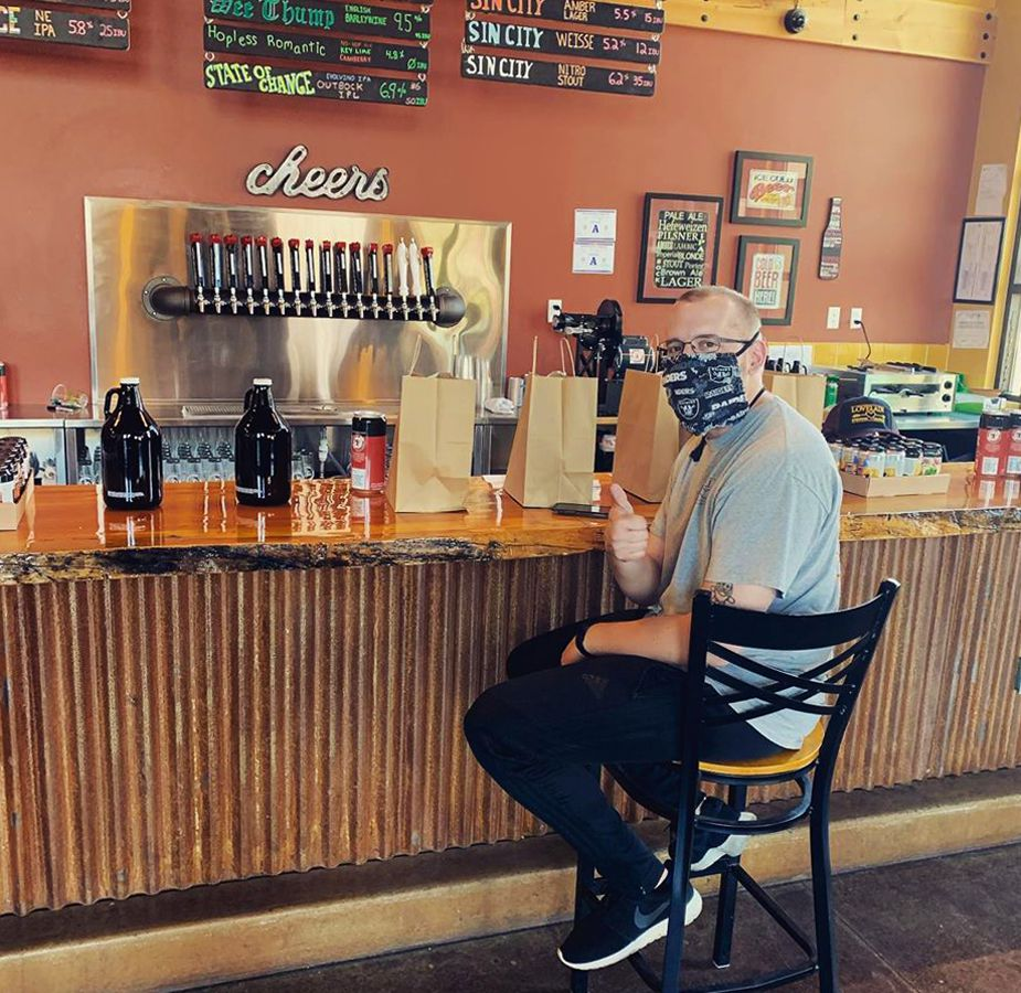 Lovelady Brewing is offering pickup service for its growlers and crowlers on Water Street.