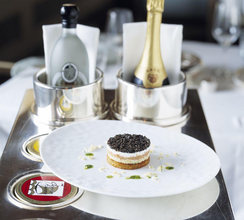 Michael Mina's caviar parfait