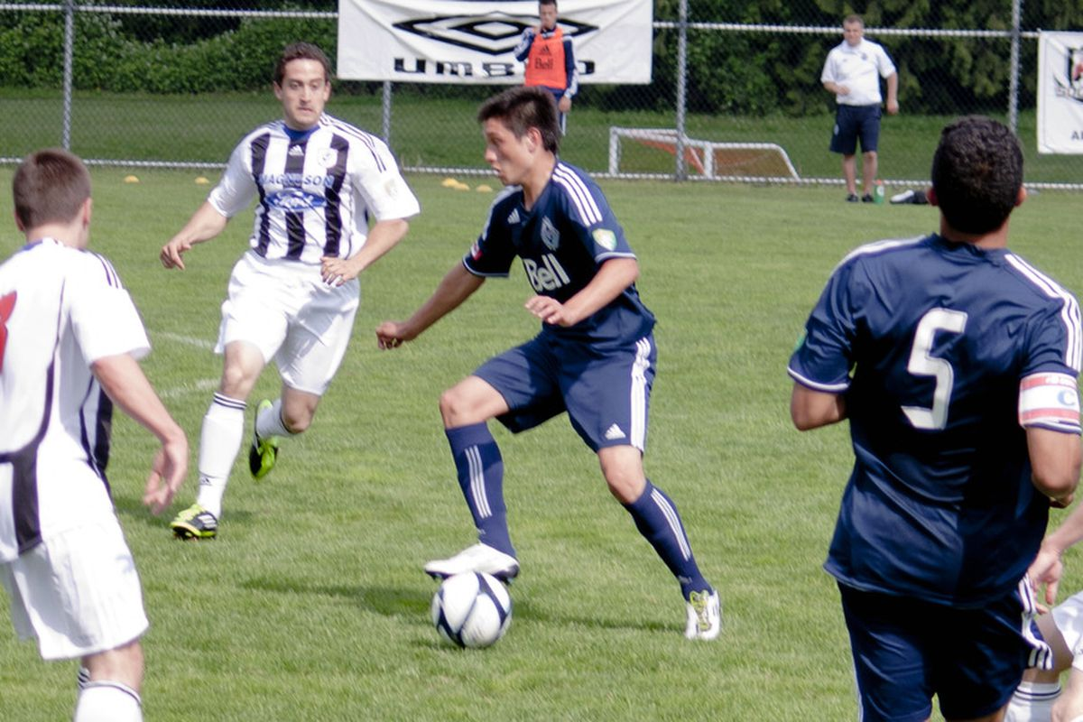 The Abbotsford Mariners take on the Vancouver Whitecaps Residency in Abbotsford on May 29, 2011. (Benjamin Massey/Eighty Six Forever)