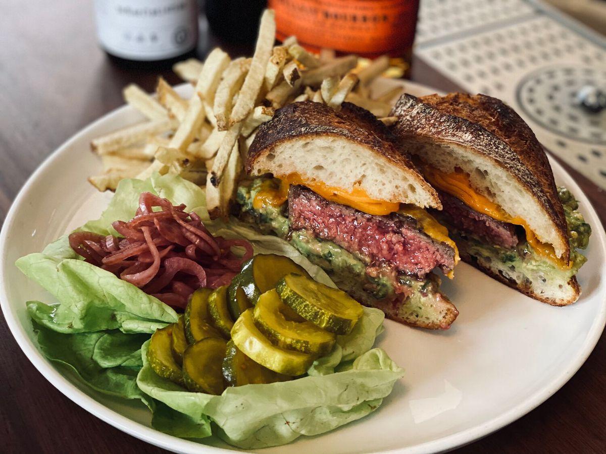 Burger at Balboa Cafe