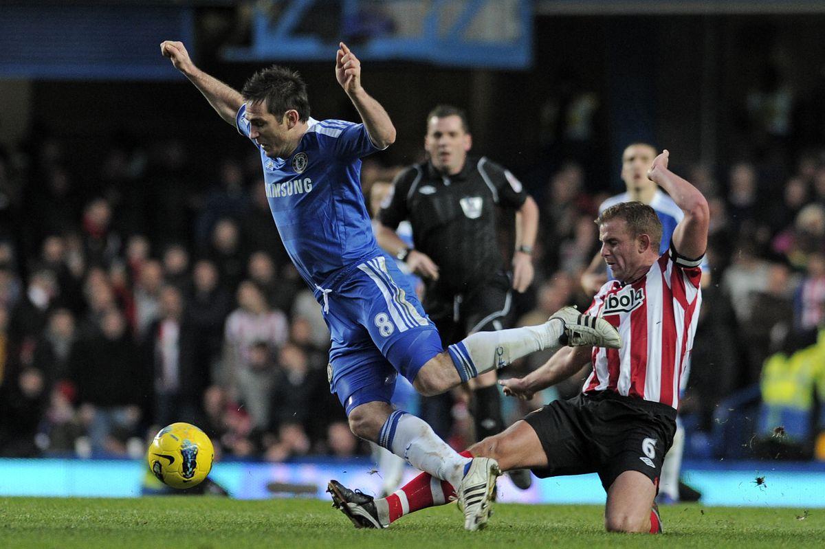 Chelsea's English midfielder Frank Lampa