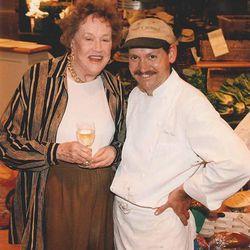 Julia Child with Peter Davis of Henrietta's Table