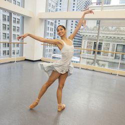 Christine Rocas dances the role of Juliet.