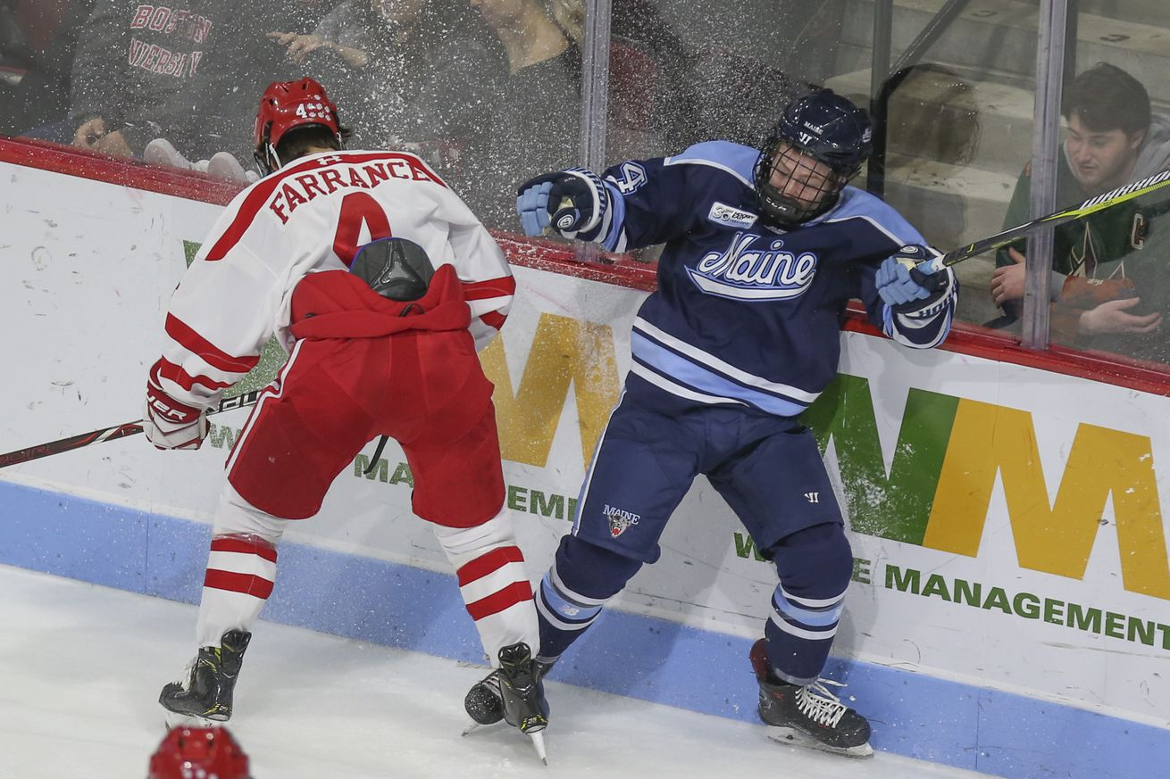 The Boston University Terriers take on the Maine Black Bears