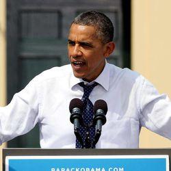 President Barack Obama speaks during a campaign stop, Friday, Sept. 7, 2012, in Portsmouth, N.H.