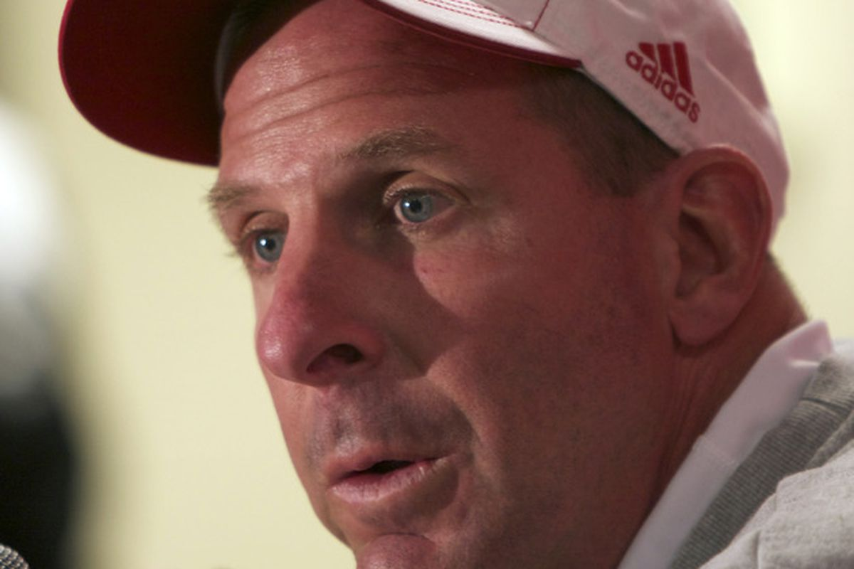 Bo Pelini - the look of concern is whether or not Nebraska will be up for this game.