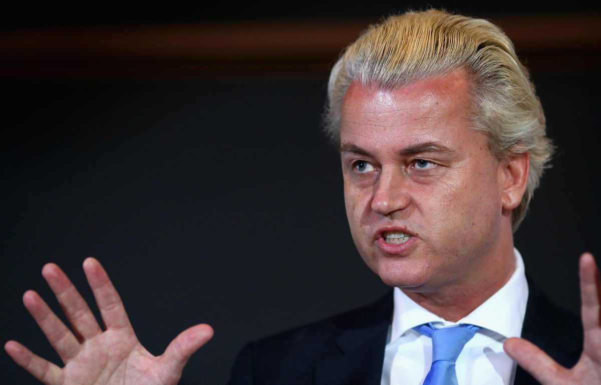 Geert Wilders speaking at a 2013 event in Australia (Ryan Pierse/Getty)