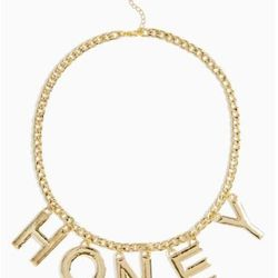 """Nasty Gal necklace, <a href=""""http://www.nastygal.com/accessories/sweet-honey-necklace"""">$22</a>"""