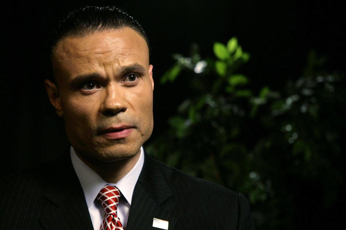Daniel Bongino, a former Secret Service agent and U.S. Senate candidate in Maryland, speaks during an interview at the Associated Press on Tuesday, April 17, 2012 in New York.  Bongino said that the agents under investigation for hiring prostitutes in Col