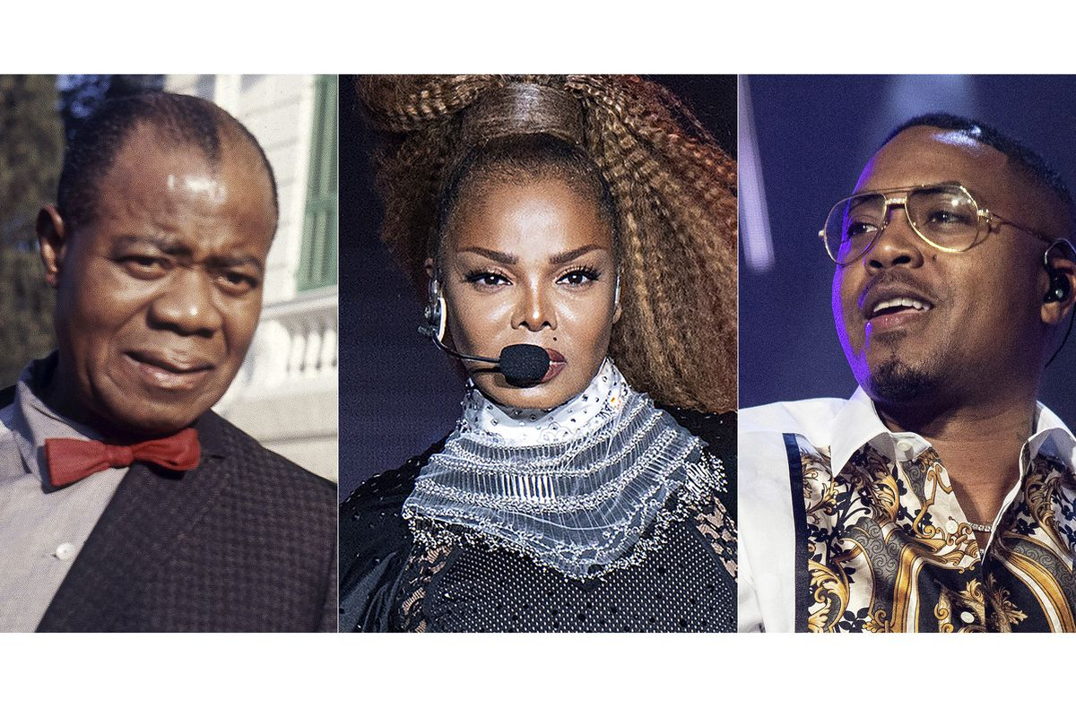 The music of Louis Armstrong (from left) Janet Jackson and Nas has been added to the National Recording Registry.