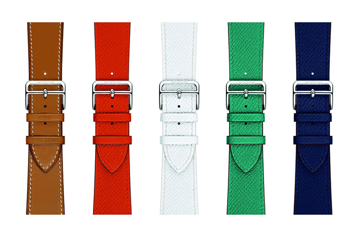 hermès is releasing five new apple watch band colors the verge