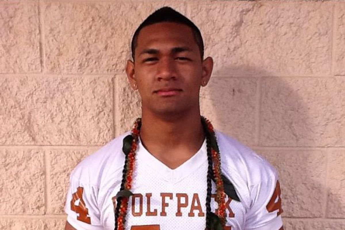 Titus Failauga, who has played for the Pac-Five High Wolfpack in Honolulu has announced he will become a Beaver!