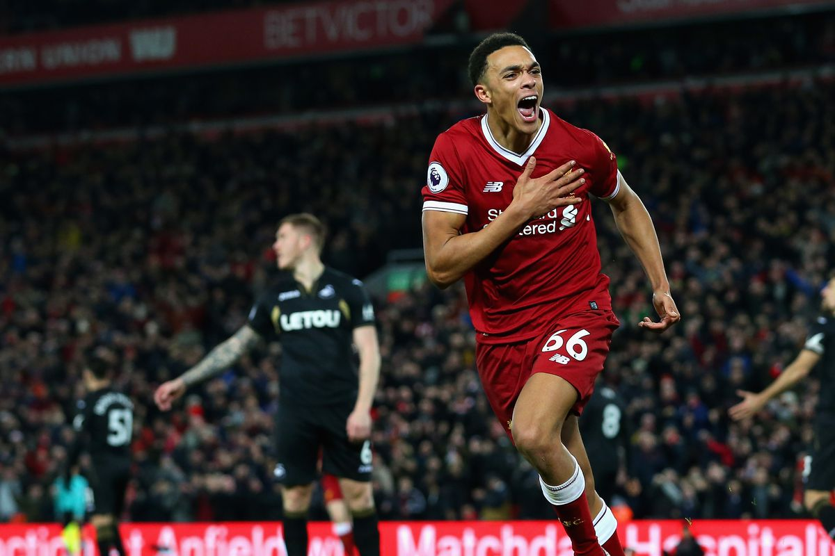 Image result for trent goal vs swansea
