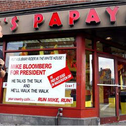 """[In the year before the 2008 Presidential election, owner Nicholas Gray was a steadfast Bloomberg believer. <a href=""""http://lostnewyorkcity.blogspot.com/2007/10/misguided-loyalty.html"""">Photo</a>]"""